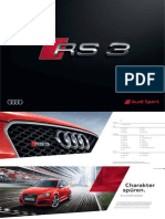 Audi RS 3 Sportback Catalogue (Germany, 2015)