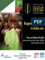 Rapporto Annuale Sul Fumo 2012
