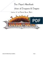 Dark Sun Player's Handbook V2.0