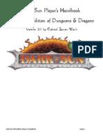 Dark Sun Player's Handbook V2.0