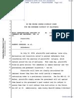Multi Denominational Ministry of Cannabis and Rastafari Inc. by Rev. Tom Brown et al v. Gonzales et al - Document No. 20
