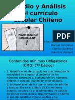 Estudio y an Lisis Del Curr Culo Escolar Chileno
