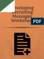 Developling Recruiting Messages Worksheet