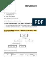 Flotación Cobre del OFC . y separación Pb-Cu MAS FLOT BATH + FLOT FLAH