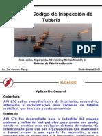 Codigo de Inspeccion de Tuberia API 570 (COMINSA)