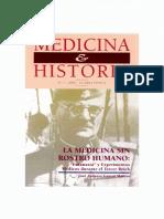 Garcia, Medicina Sin Rostro Humano, Eutanasia y Experimentos Medicos Nazis