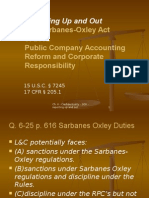 Sarbanes Oxley - Attorney Regulations