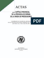 Actas Capítulo Provincial de Caleruega 2006