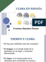 EL CLIMA EN ESPAÑA