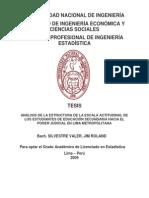Análisis de La EstANÁLISIS DE LA ESTRUCTURA DE LA ESCALA ACTITUDINAL