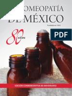 La Homeopatía de México, número especial (80 aniversario)