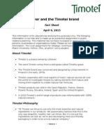 fact sheet timotei