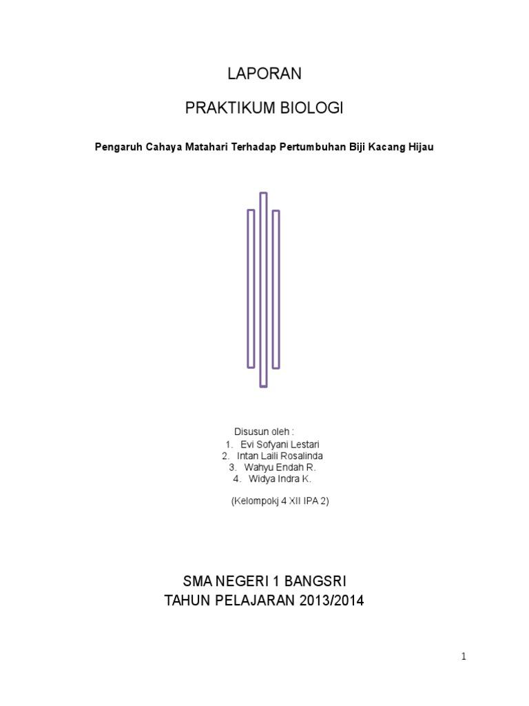 Laporan Biologi Pertumbuhan Tanaman