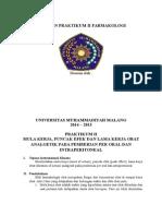 Praktikum II (Mula Kerja, Puncak Efek Dan Lama Kerja Obat)