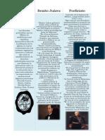Cuadro Comparativo entre liberales, Benito Juárez y Porfirio Diaz