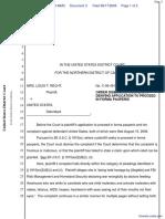 Recht v. United States - Document No. 3