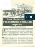 Los Pioneros Del Pensamiento Socialista Español