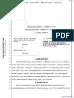 """The Apple iPod iTunes Anti-Trust Litigation"" - Document No. 73"