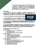 REPASO POLÍTICAS Y PROCEDIMIENTOS SSPA