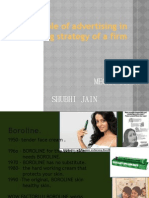 Role of Advertising in Marketing Strategy Of