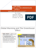 How Does Global Warming and the Greenhouse