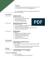 resume - vista financial services