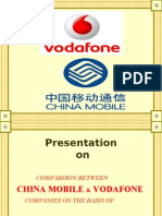 Vodafone & China Mobile comparison on basis of SWOT Analysis ppt