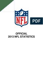 2013 Official Nfl Statistics