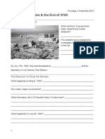 the atomic bombs worksheet