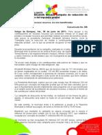 30-06-2011 Inicia alcaldesa Elizabeth Morales campaña de reducción de multas a deudores del impuesto predial. C356
