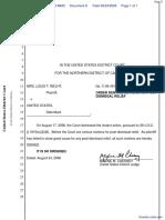Recht v. United States - Document No. 8