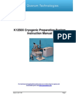 k1250x Cryogenic Preparation System Instruction Manual