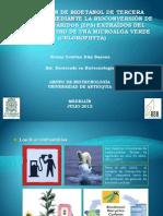 Producción de Bioetanol de Tercera Generación. Kenny Díaz b.