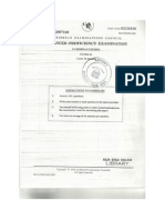 Caribbean Studies Paper 1 2007