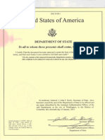 Authenticated Birth Certificate