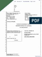 """The Apple iPod iTunes Anti-Trust Litigation"" - Document No. 77"