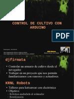 Control de Cultivo Con Arduino