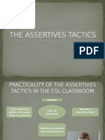 The Assertives Tactics In The ESL Classroom
