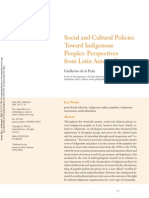 Social Cultural Policies Indigenous Peoples LA Perspectives