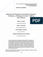 Behavioral Treatment of Autistic Persons