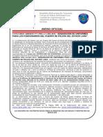 Aviso Oficial Uniformes 2015