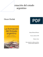 Oszlak la formacion del Estado Argentino
