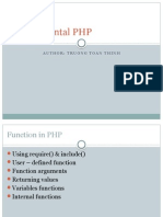 Function in PHP