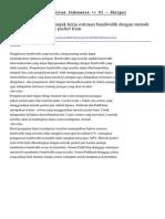 ABSTRACT UI-Analisa Perbandingan Unjuk Kerja Estimasi Bandwidth Dengan Metode