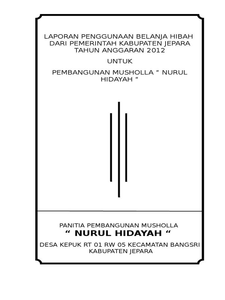 Lpj Dana Hibah Musholla Nurul Hidayah