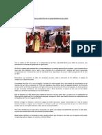 Proclamación de La Independencia Del Perú