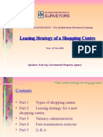 Leasing Strategy of a Shopping Centre