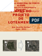 Loteamento ETAPAS DE PROJETO