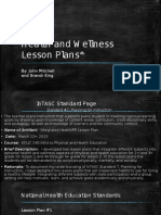 mitchell, john, educ 240, health and wellness lesson plans