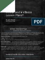 mitchell, john, educ 240, health and wellness lesson plans
